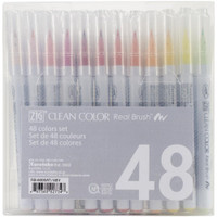 Zig Clean Color Real Brush Markers 48/Pkg