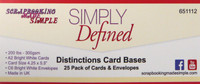 Simply Defined Distinctions Card Bases - A2 Bright 25 White Cards & Envelopes