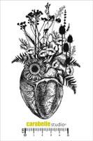 Carabelle A6 Stamps - Un Coelur En Fleur