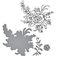 Spellbinders Stamp/Die  Set Donna Salazar Collection : Flower Bouquet
