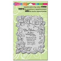 Stampendous Cling Stamp - Rose Wedding