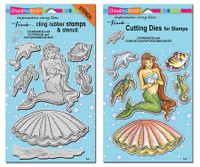 Stampendous Cling Stamps and  Dies Bundle - Mermaid Friends