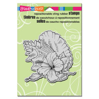Stampendous Cling Stamp - Hibiscus Conch