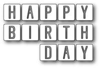 Memory Box Dies - Happy Birthday Tiles