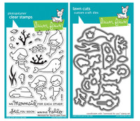 Lawn Fawn Stamps & Dies Bundle - Mermaid For You
