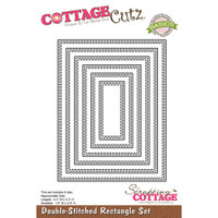 CottageCutz Basics Dies 6/Pkg - Double Stitched Rectangle