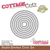 CottageCutz Basics Dies 7/Pkg - Double Stitch Circle