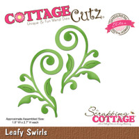 CottageCutz Elites Die - Leafy Swirls