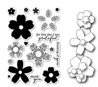 Memory Box Poppystamps Stamp and Die Bundle - Flourish Bloom