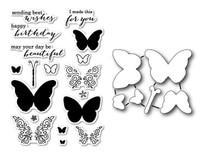 Memory Box Poppystamps Stamp and Die Bundle - Ornamental Butterflies