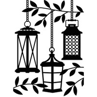 Darice A2 Embossing Folder - Lanterns In Tree