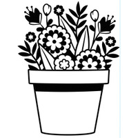 Darice A2 Embossing Folder - Flowers In Pot