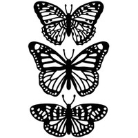 Darice A2 Embossing Folder - Butterfly Trio
