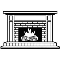 Darice A2 Embossing Folder - Fireplace