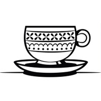 Darice A2 Embossing Folder - Teacup & Saucer
