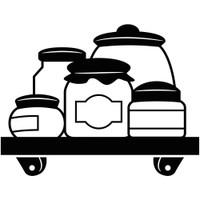 Darice A2 Embossing Folder - Crock Jars