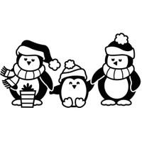 Darice A2 Embossing Folder - Penguins