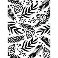 Darice A2 Embossing Folder - Green Sprigs & Berries