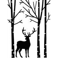 Darice A2 Embossing Folder - Deer In Forest