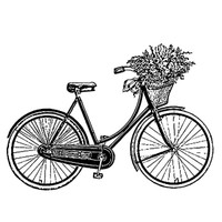 Stamperia High Definition Rubber Stamp -  Bycicle