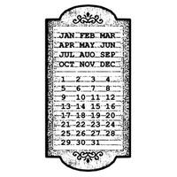 Stamperia High Definition Rubber Stamp -  Calendar
