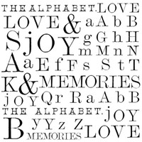 Stamperia High Definition Rubber Stamp -  Words