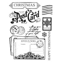 Stamperia High Definition Rubber Stamp -  Xmas Postcards
