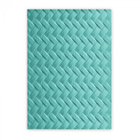 Sizzix 3-D Textured Impressions Embossing Folder by Lynda Kanase - Woven