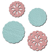 Sizzix Movers & Shapers Magnetic Die Set 4PK - Flower Concho