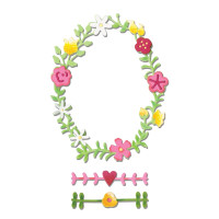 Sizzix Thinlits Die Set 3PK - Floral Wreath #2