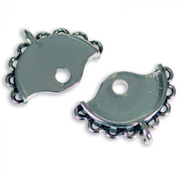 Sizzix Findings - Small Bracelet Clasp Connector, Silver, 2pc.