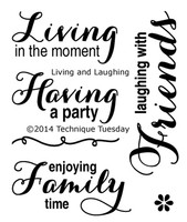 Technique Tuesday Clear Stamps 2X2.5 - Living & Laughing