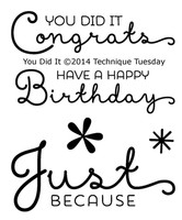 Technique Tuesday Clear Stamps 2X2.5 - You Did It