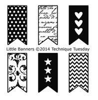 Technique Tuesday Clear Stamps 2X2.5 - Little Banners
