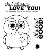 Technique Tuesday Clear Stamps 2X2.5 - It's Owl Good