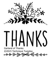 Technique Tuesday Clear Stamps 2X2.5 - Garland Of Thanks