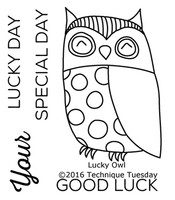 Technique Tuesday Clear Stamps 2X2.5 - Lucky Owl