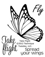 Technique Tuesday Clear Stamps 2X2.5 - Take Flight