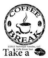 Technique Tuesday Clear Stamps 2X2.5 - Coffee Break Seal