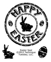 Technique Tuesday Clear Stamps 2X2.5 - Easter Seal