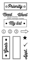 Technique Tuesday Clear Stamps 2X4 - Planner-Priority