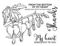Technique Tuesday Clear Stamps 2X2.5 - Bleeding Hearts