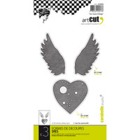 Carabelle Art Cut Die 3/Pkg - An Angel Heart