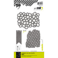 Carabelle Art Cut Die 3/Pkg - Textures #1