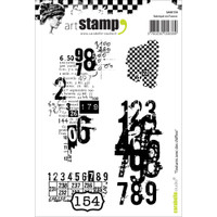 Carabelle Studio Cling Stamp A6 - Textures With Numbers