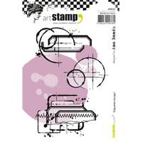 Carabelle Studio Cling Stamp A6 - Grunge Labels