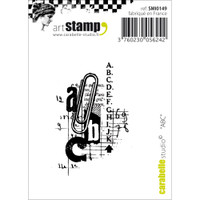 """Carabelle Studio Cling Stamp 2.75""""X3.75"""" - ABC"""