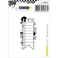"Carabelle Studio Cling Stamp 2.75""X3.75"" - Flag Label"
