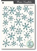 Memory Box Stencil - Snowflakes