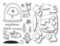 Memory Box Dies & Stamps Die Set - Snowglobe Wishes
